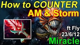 Dota 2 Miracle Slark: How to Counter Antimage & Storm @ 23/6/12 ft Fly - Bloodthorn