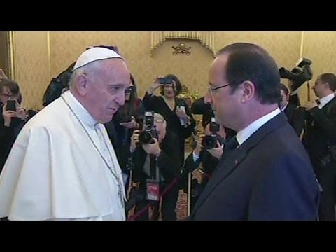 French president visits pope