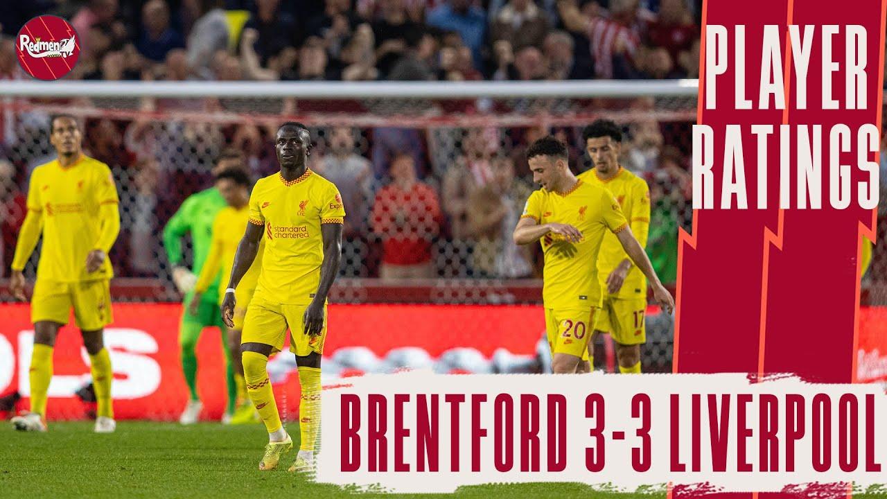 Liverpool Player Ratings vs Brentford (Sept 25, 2021)