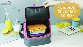 LunchBots Duplex Insulated Lunch Bag - Dual Section Design Fits LunchBots Uno, Duo, Trio, Quad...