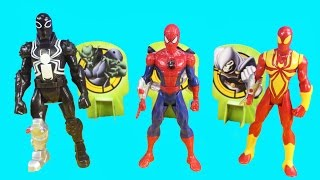Ultimate Spiderman Web-Warriors Web Slingers Spider-man Agent Venom And Iron Spider