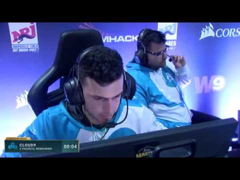 Cloud9 vs FaZe (Mirage) at DreamHack Masters Marseille 2018 - map 2
