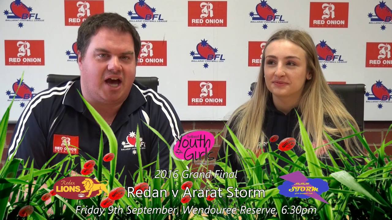 2016 Ballarat FNL Youth Girls Footy Show - Grand Final