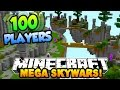 "Minecraft MEGA SKYWARS ""100 PLAYER BATTLES"" #1 w/PrestonPlayz & Kenny"
