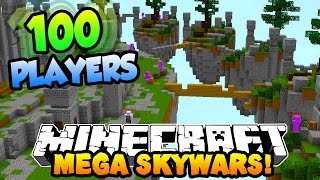 Minecraft MEGA SKYWARS '100 PLAYER BATTLES' #1 w/PrestonPlayz & Kenny
