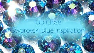 Up Close with Swarovski Blue Crystals