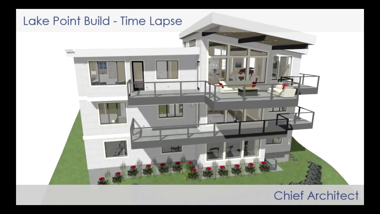 Chief Architect Lake Point Home Design