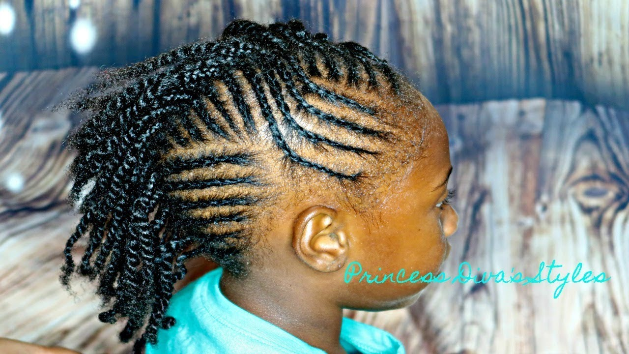 Easy Braided Mohawk Hair Type 3c 4c Children S Natural Hair Care Youtube