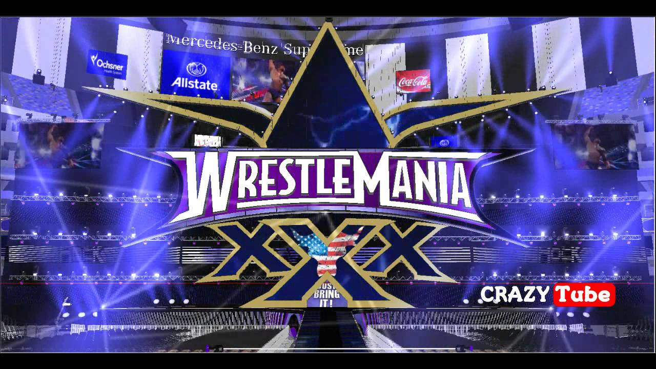 Wwe hd stage animation the rock wrestlemania 30 entrance for Mercedes benz superdome wrestlemania 30