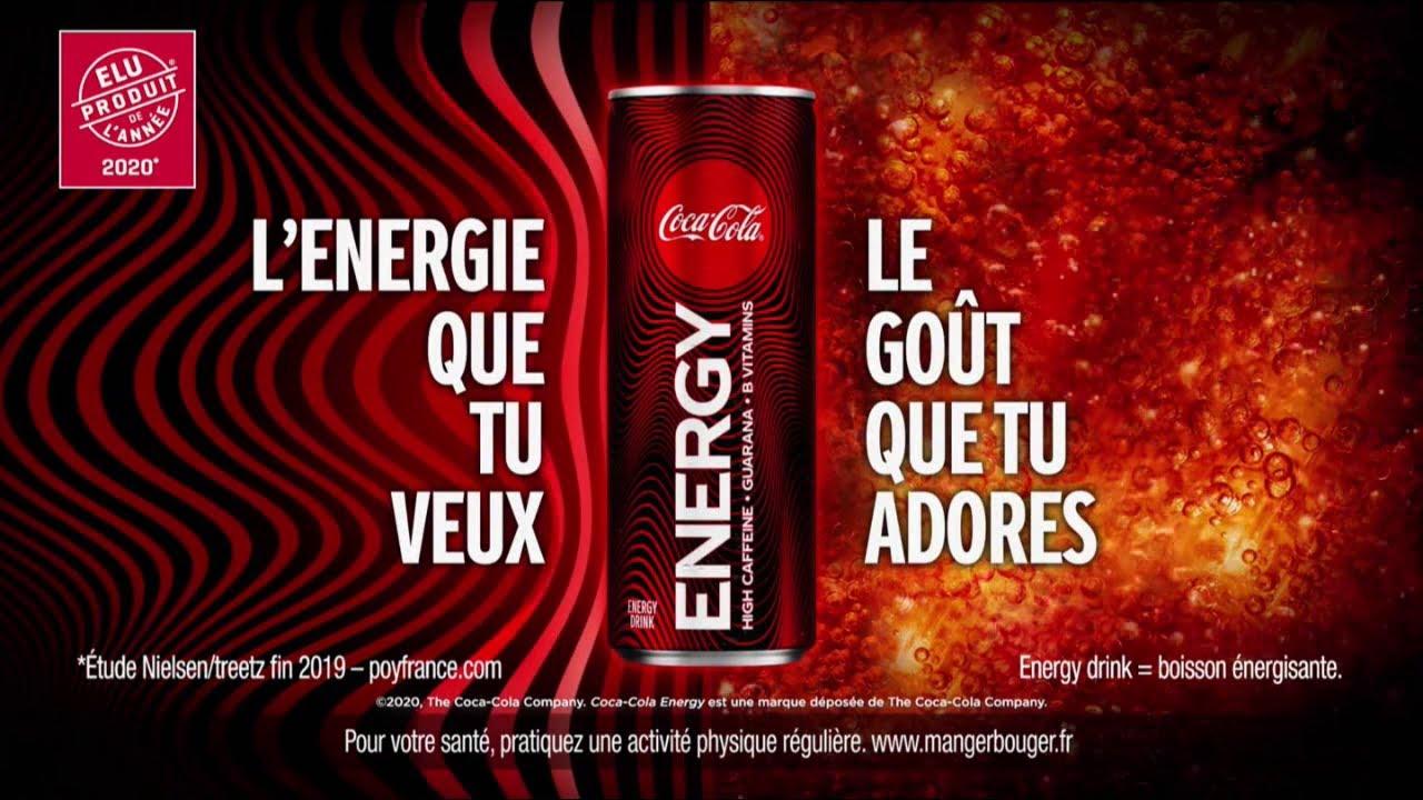 """Coca-Cola Energy Drink """"l'énergie que tu veux le goût que tu adores"""" Pub 10s"""