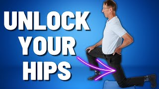 How to Unlock Your Hip Flexors. How to Tell if They are Tight. Decrease Back & Hip Pain. Video