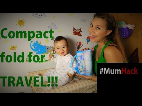 How to fold baby clothes for Travel - Mum Hack - Thays Mami T