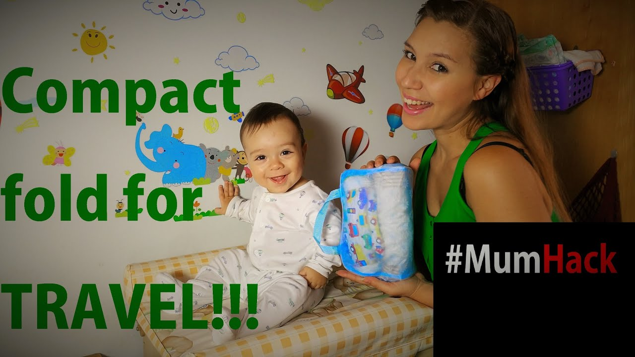 How to fold baby clothes for Travel Mum Hack Thays Mami T
