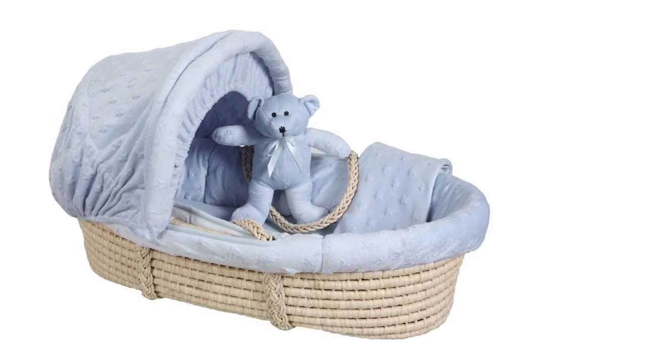 Baby Moses Basket Wicker Moses Basket Pink My Sweet Baby