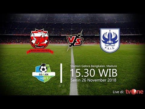Jadwal Live TV One Liga 1 2018 Madura United Vs PSIS Semarang, Senin Pukul 15.30 WIB