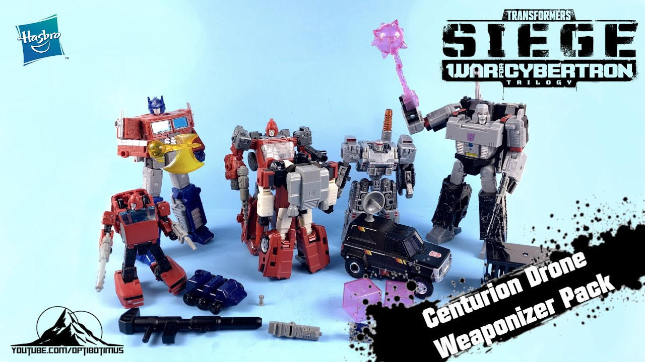 Download @TRANSFORMERS OFFICIAL War for Cybertron Deluxe Centurion Drone Weaponizer Pack Video Review