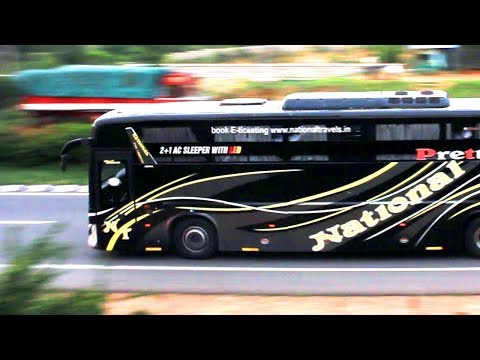 Day - 40 High Speed Volvo Scania Mercedes Benz Buses in Bangalore - SRS, VRL, National, Jabbar