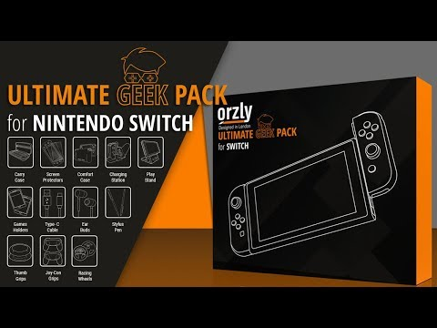 The ULTIMATE Nintendo Switch Accessories Pack - Orzly Geek Pack