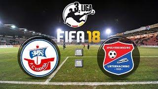 FIFA 18 SpVgg Unterhaching : FC Hansa Rostock - 3. Liga 14. Spieltag | Gameplay Deutsch Livestream