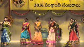SreeChandana and Anisha Team, Gobbiyallo song, 2016 DTA Sankranthi event