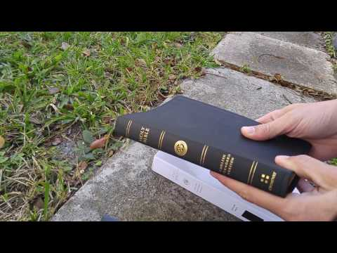 Review: ESV Thinline Bible in Black Genuine Leather Mp3