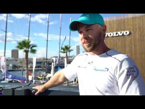 Brad Farrand 'Team AkzoNobel' pre Leg 1 start interview ENG