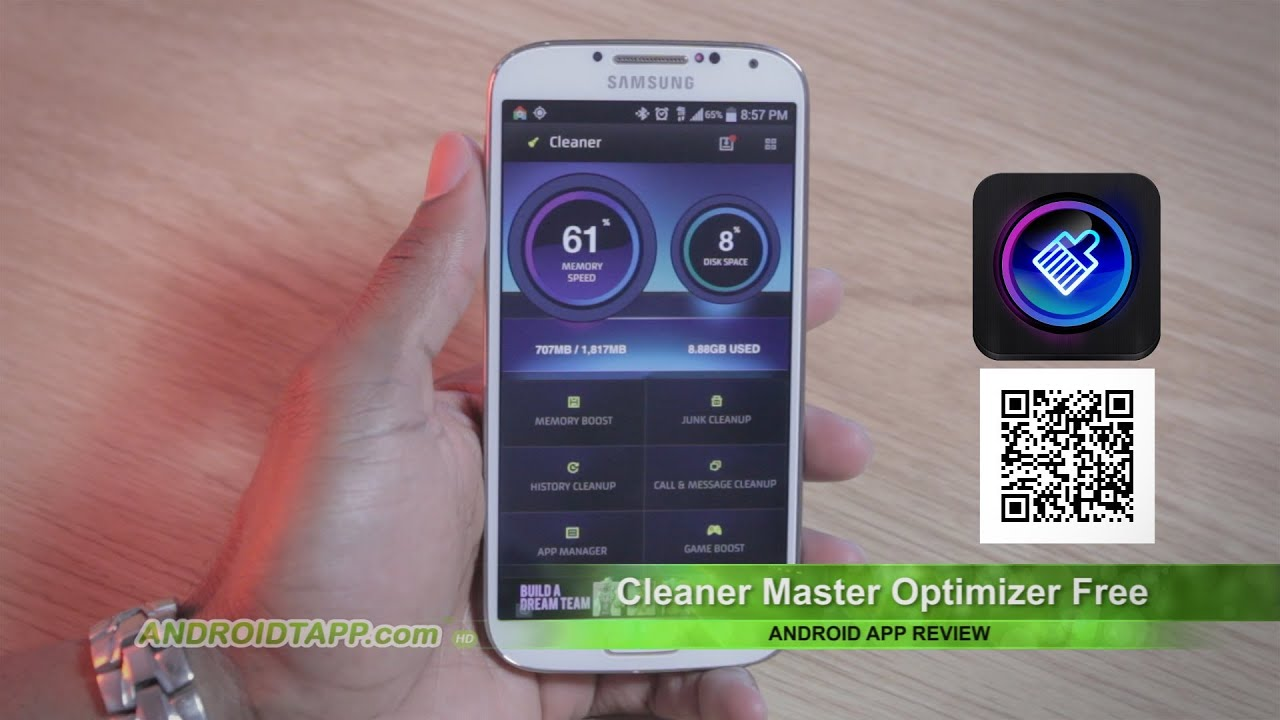 Cleaner master optimizer free android app review youtube - Clean master optimizer apk ...