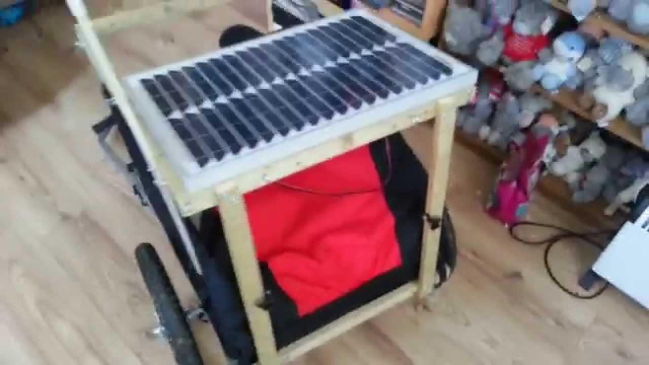 Diy Bike Cargo Trailer Rack With Solar Panel Youtube