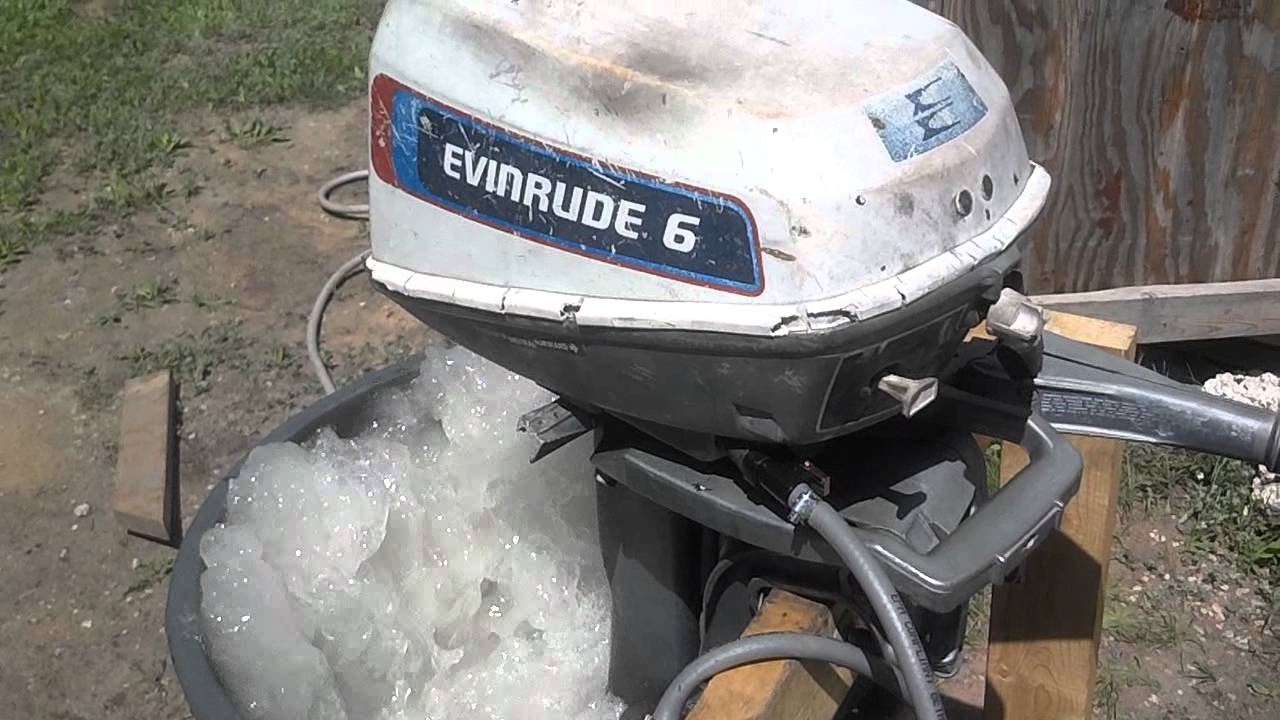 1976 6604A Evinrude 6HP after service