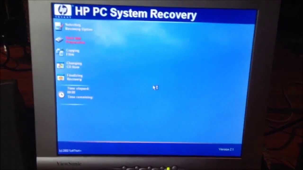 Restoring The Hp Pavilion 753n To The Factory Windows