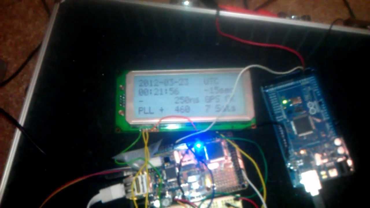 Arduino GPS clock with LCD module working