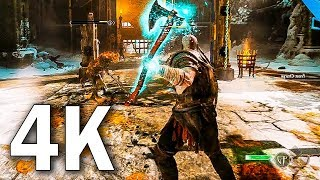 GOD OF WAR 4 - NEW Gameplay Trailer in 4K (2018) PS4 Pro