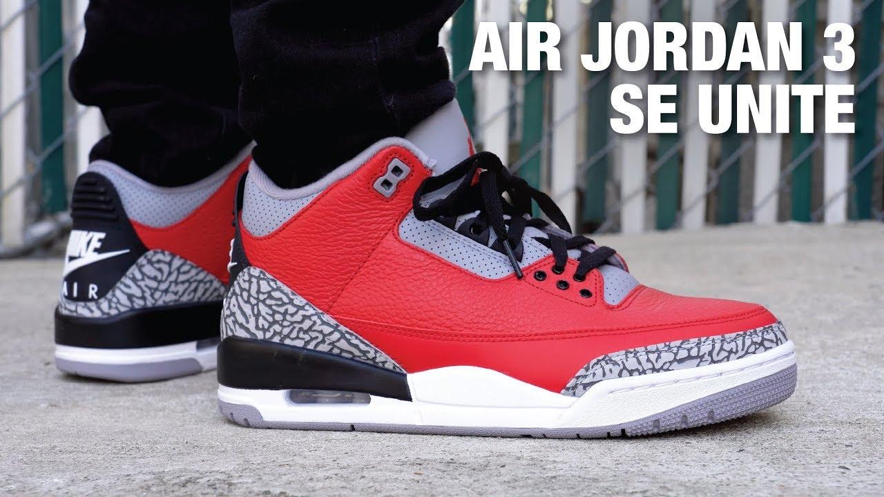 Air Jordan 3 SE UNITE Fire Red REVIEW