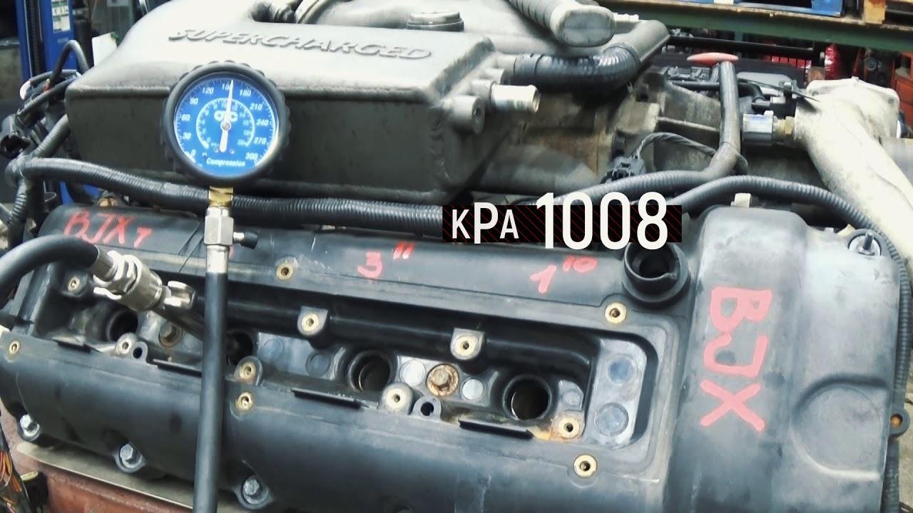 2001 JAGUAR X100 XKR SUPERCHARGED 4.0L RWD Compression Test - YouTube
