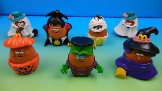 1992 HALLOWEEN McNUGGET BUDDIES SET OF 7 McDONALDS HAPPY MEAL KIDS TOYS VIDEO REVIEW