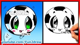 How to Draw Soccer Ball - Football - Fifa World Cup - Learn how to Draw  Fun2draw cartoons