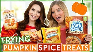 TRYING FUN PUMPKIN SPICE FLAVORED FOOD thumbnail