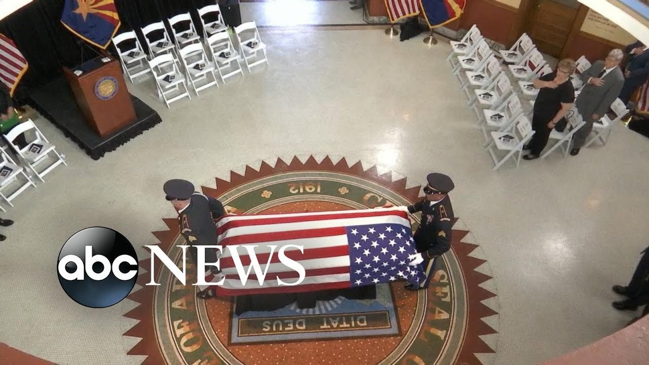 Family and friends attend public viewing for Sen. John McCain