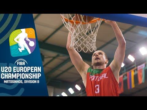 Portugal V North Macedonia - Full Game - FIBA U20 European Championship Division B 2019