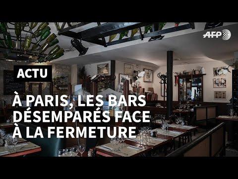 Coronavirus: les bars à Paris désemparés face à la fermeture imposée | AFP News