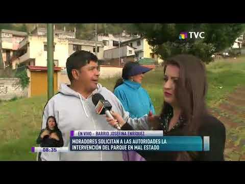 Vecinos de barrio Josefina Enríquez piden arreglo de área verde