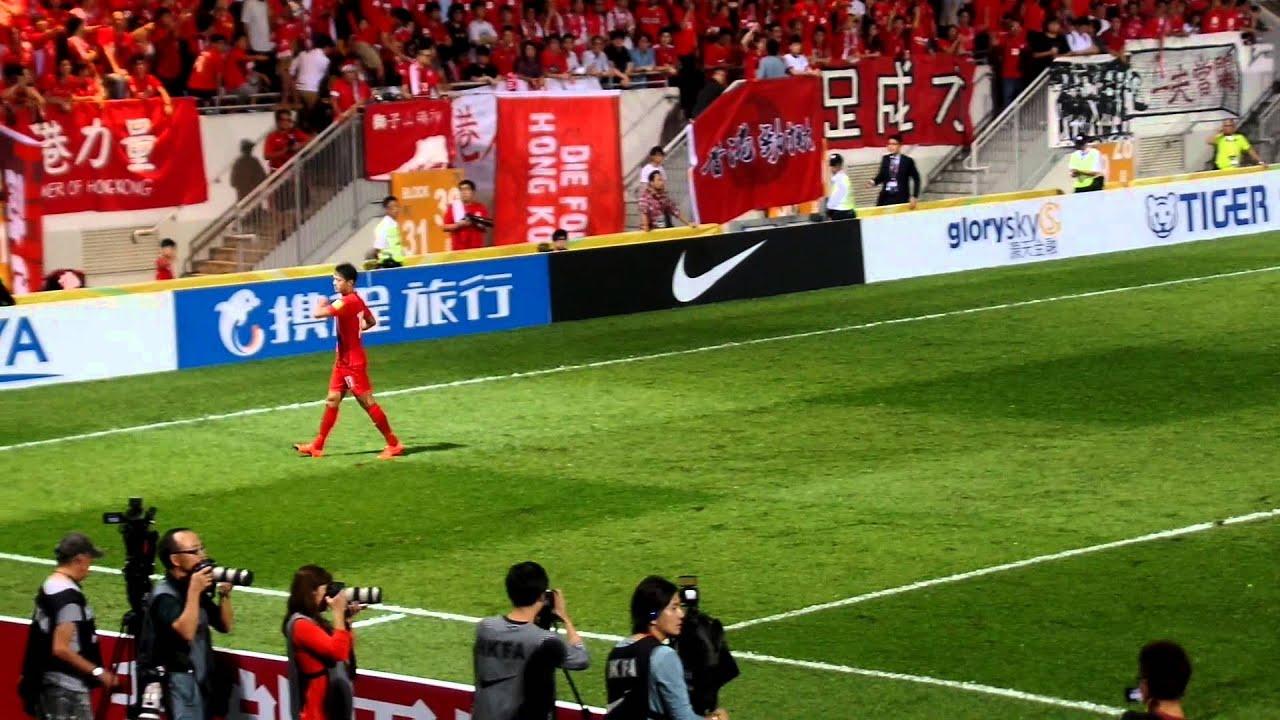 世界盃外圍賽 香港 0:0 中國 港隊入球不被計算 - YouTube
