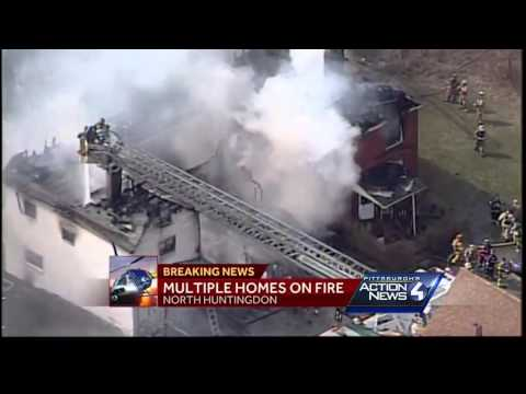 Fire Destroys Neighboring Homes In North Huntingdon
