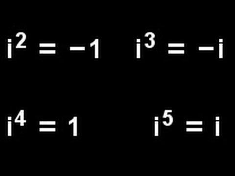Komplexe Zahlen - Video 4 (i hoch n) - YouTube