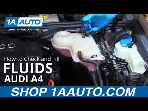 how to check the oil level on a audi a4 - youtube