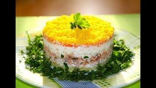 """Салат с Тунцом """"Аристократ"""" Праздничный салат из Простых продуктов"""