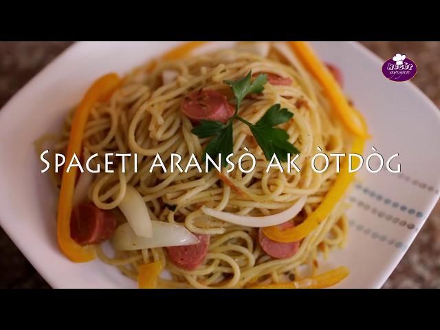 Spageti aransò ak òtdòg - Resèt ayisyen by #ChefGaspard