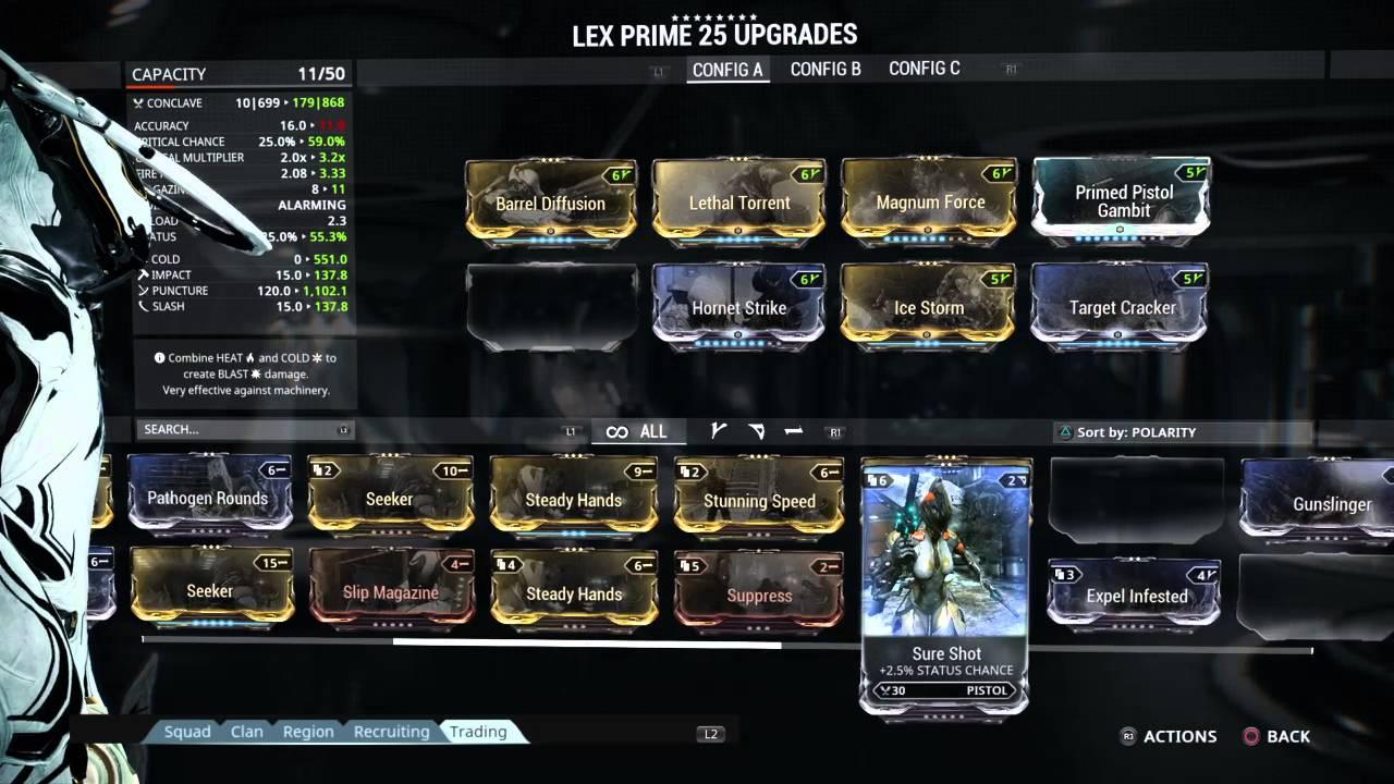 Best Lex Prime Build