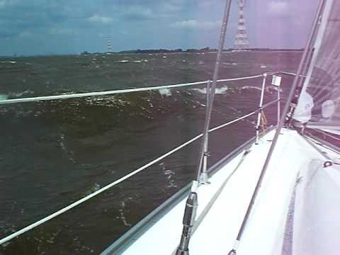 Hamburg Wind gg Strom... 25kn Wind gegenan.. pace