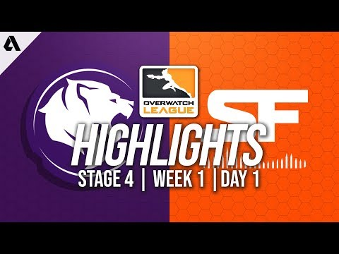 Los Angeles Gladiators vs San Francisco Shock | Overwatch League Highlights OWL Stage 4 Week 1 Day 1